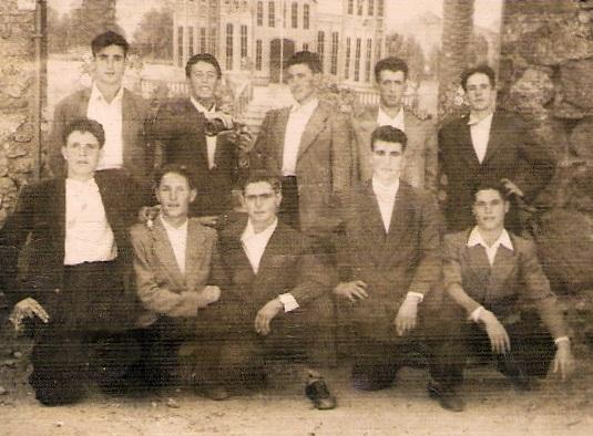 De pie: Severo Prieto Merchán, Sebastián Díaz Guillén, Higinio ...